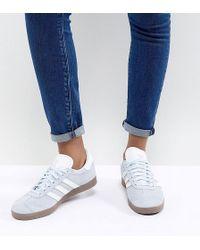 Lyst adidas Originals Gazelle zapatillas con suela de goma cuero negro