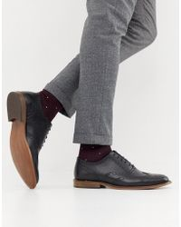 Office - Interface Brogues In Black Leather - Lyst