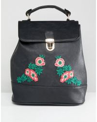 Liquorish - Floral Embroidered Backpack - Lyst