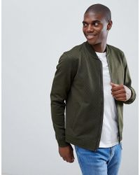 Ted Baker - Jersey Bomber In Green Geo Print - Lyst