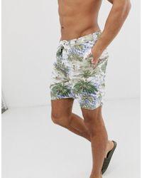 Abercrombie & Fitch - 7 Inch Hawaiian Print Board Shorts In Multi - Lyst