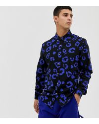 b10b696c1016 Lyst - Collusion Tall Regular Fit Oxford Shirt In Leopard Print in ...