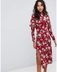 Flynn Skye - Floral Midi Dress - Lyst