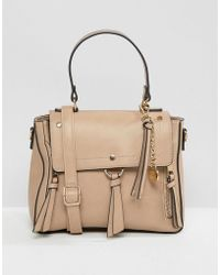 658f775e3462 ALDO - Gadossi Camel Tote Bag With Ring And Tassel Detailing - Lyst