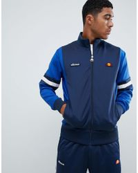Ellesse - Galturg Poly Tricot Track Jacket With Sleeve Panels In Navy - Lyst