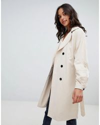 Vila - Trench Coat - Lyst