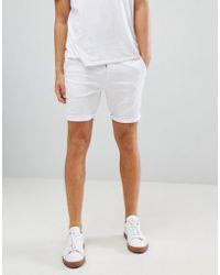 ASOS - Skinny Chino Shorts In White - Lyst