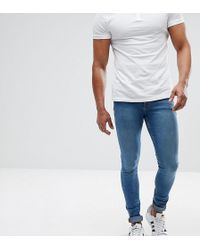 ASOS DESIGN - Asos Tall Extreme Super Skinny Jeans In Mid Blue - Lyst