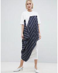 ASOS - Minimal Button T-shirt Dress - Lyst