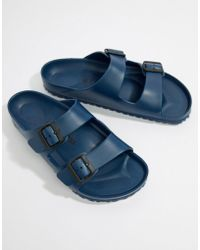 Birkenstock - Arizona Eva Sandals In Navy - Lyst
