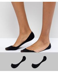 ASOS - 2 Pack Invisible Socks - Lyst