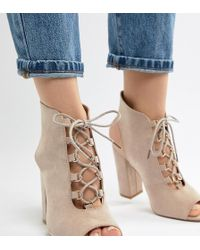Truffle Collection - Lace Up Heeled Sandals - Lyst
