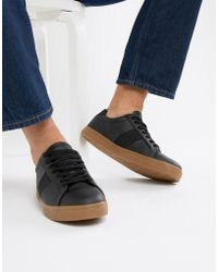 ASOS - Sneakers In Black With Gum Sole - Lyst