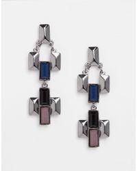 Nali | Black Triangle Earrings | Lyst