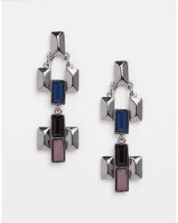 Nali - Black Triangle Earrings - Lyst