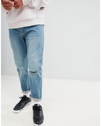 Bellfield - Carrot Fit Jeans With Knee Rip - Lyst
