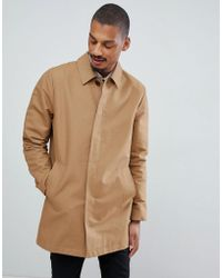 ASOS - Shower Resistant Single Breasted Trench In Tobacco - Lyst