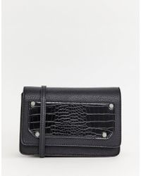 Pieces - Kimberley Cross Body With Faux Croc Skin - Lyst