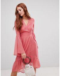 Vero Moda - Flared Sleeve Boho Dress - Lyst