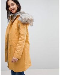 ASOS - Asos Parka With Detachable Faux Fur Liner - Lyst