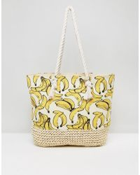 New Look - Banana Shopper Beach Bag - Lyst