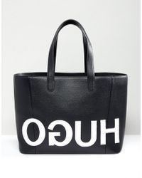 HUGO - Tote Bag With Textured Logo - Lyst