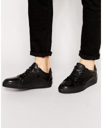SELECTED - Elected Homme Dylan Leather Trainers - Lyst