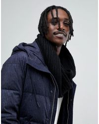 Antony Morato - Knitted Snood In Black - Lyst