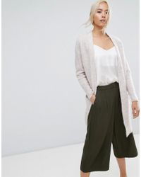 SELECTED - Cardigan With Ribbed Cuff Sleeves - Lyst