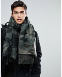 Jack & Jones - Camo Scarf - Lyst