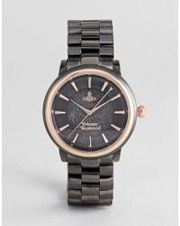 Vivienne Westwood - Vv196gngn Shoreditch Bracelet Watch In Black - Lyst