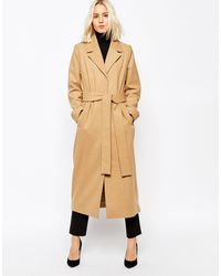 Weekday - Long Mannish Overcoat - Lyst