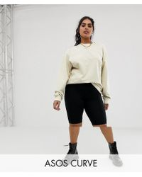 ASOS - Asos Design Curve legging Shorts In Black 2 Pack - Lyst