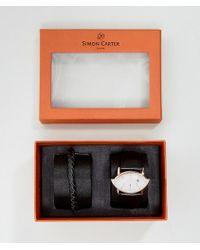Simon Carter - Wt2201 Leather Watch & Bracelet Gift Set - Lyst