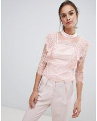Coast - Victoriana Lace Top - Lyst