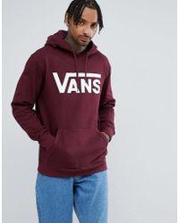 Vans - Large Logo Hoodie In Red Vn000j8nk1o1 - Lyst
