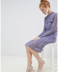 Soaked In Luxury - Floral Midi Dress - Lyst