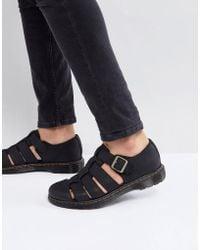 Dr. Martens - Revive Fenton Closed Sandals In Black - Lyst