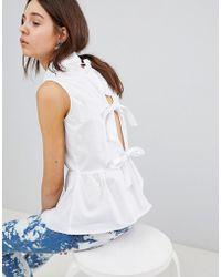 Glamorous - Sleeveless Shirt With Pephem - Lyst