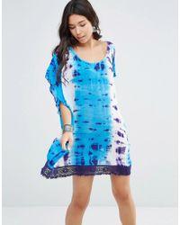 Gypsy 05 - Tie Dye Boxy Oversized Dress - Lyst