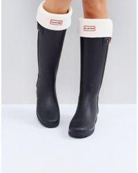 HUNTER Original Cream Tall Boot Socks - Multicolor
