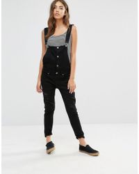 Daisy Street - Dungarees With Button Detail - Lyst