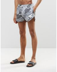 Abuze London - Short Swim Shorts In Camo - Lyst