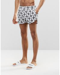 Abuze London - Short Swim Shorts In Iconic Monogram Print - Lyst