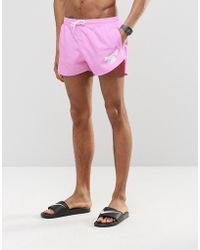 Abuze London - Short Swim Shorts In Pink - Lyst