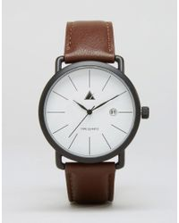 ASOS - Minimal Watch In Brown - Brown - Lyst