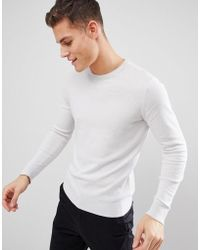 SELECTED - Crew Neck Knit - Lyst