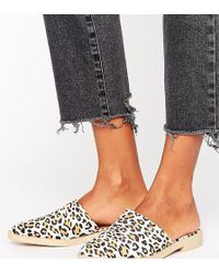 The March - Leopard Print Mules - Lyst