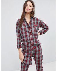 Esprit - Checked Night Shirt - Lyst