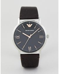 Emporio Armani - Ar11153 Kappa Leather Watch 41mm - Lyst